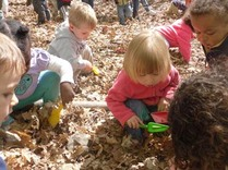 Preschool kids in the outdoor classroom